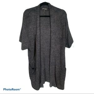 Barefoot Dreams Short Sleeve Open Front Cardigan L